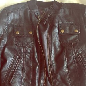 Vegan leather motor jacket
